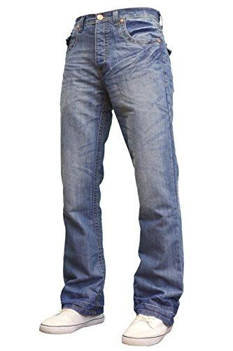 APT Herren Jeanshose Gr. 42W x 30L, Lightwash (Jeans Flare Leg Wide)