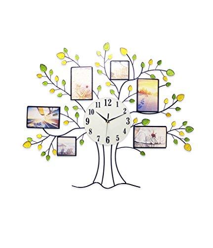 Ziffer Batterie (SZ Fotorahmen Uhr, Quarz Wanduhr, Mute Wanduhr, genaue, arabische Ziffern, Batterie Nicht enthalten, geeignet für zu Hause, Restaurant, Küche, Büro, Schule (26 Zoll))