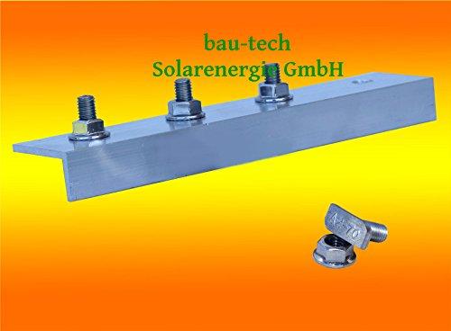 1 Stück Profil Verbinder ALU für Solar Photovoltaik PV Montage Profil Schiene von bau-tech Solarenergie GmbH