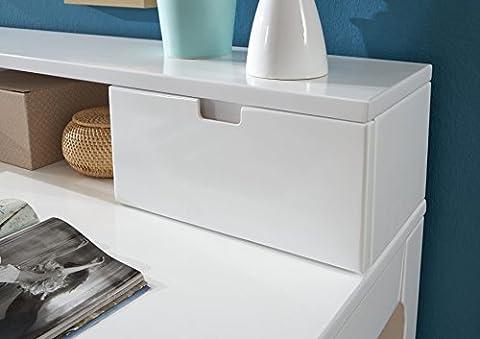 Relita RF6841117 Schreibtisch, Holz, buche massiv weiß lackiert, 22 x 109,3 x 17 cm