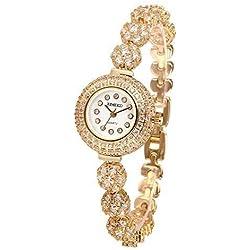 Time100 Luxury Elegent Diamonds Quartz Womens Bracelet Watch #W50343L.02A