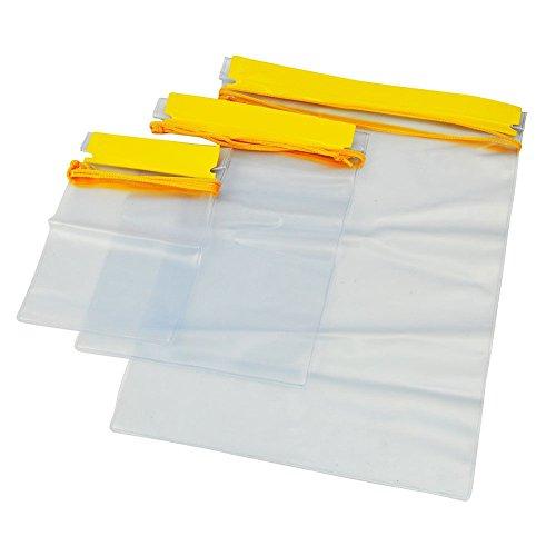 De alta calidad, doble cierre hermético plegable, menos elástico pero mayor resistencia a pinchazos y roturas que las bolsas cómodas. Fácil de volver a sellar.El paquete incluye:3 bolsa de tamaños diferentes.