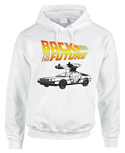 Felpa con cappuccio Back to the Future ritorno al futuro in cotone by Fashwork Bianco