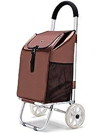 XIN Telaio leggero in alluminio Carrello della spesa pieghevole carrello di utilità con cuscinetti ruota Carrello per i bagagli, D