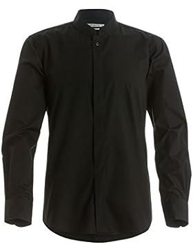 Kustom Kit - Camicia con Collo alla Coreana - Uomo