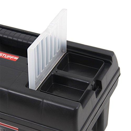 Kunststoff Werkzeugkoffer STUFF Semi Profi Alu 16″, 41x22cm Kasten Werzeugkiste Sortimentskasten Werkzeugkasten Anglerkoffer - 3
