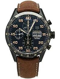 Uhr Tag Heuer Carrera cv2a84.fc6394Schalter Titan Quandrante schwarz Armband Leder
