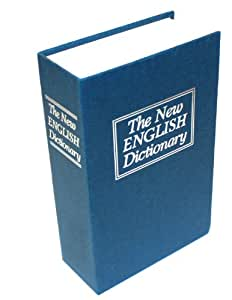thumbsUp  - Livre Coffre-fort Factice Dictionnaire Cachette Secrets Sécurité Tirelire, bleu - 0000384