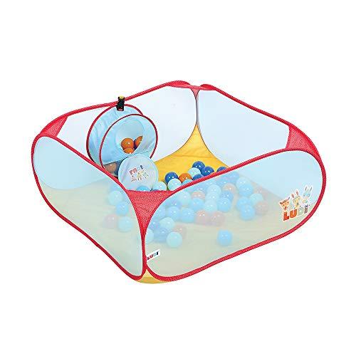 Unbekannt Geschicklichkeits Spielplatz   Ludi   Kompaktes Spielzeug mit Tragetasche - Zielen Lernen und Spaß haben - Inklusive 20 Bällen - Leichte, tragbare Struktur  Ab 10 Monaten -