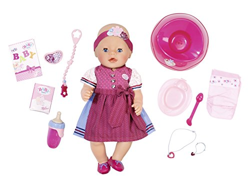 Zapf Creation 824221 – Baby Born Interactive tirolesa Edition