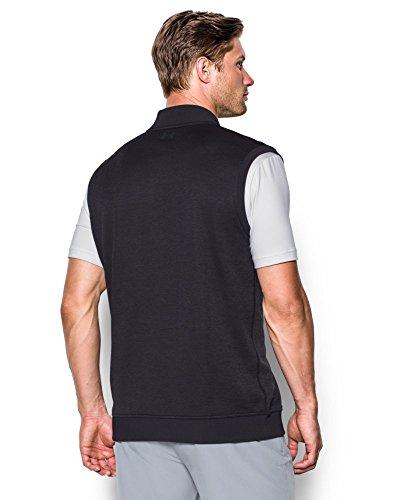 419dEzs1boL - Under Armour 2017 Golf Sweater Fleece Vest Zip Neck Tank Top Mens Slipover Asphalt Heather Small
