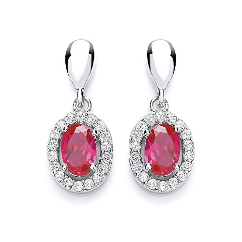 Chic Brosche rhodiniert Kristall Zirkonia Cluster Silber Ohrringe Preisvergleich