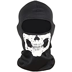 cagoule masque tête de mort pour moto ski paintball
