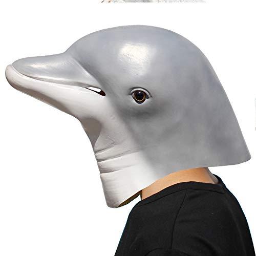 PartyCostume - Delfin Maske - Halloween Party Latex Meer ()