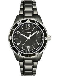Timex - T2M519 AU - Timex Sport Luxury - Quartz analogique - Montre Femme - Bracelet en acier inoxydable noir
