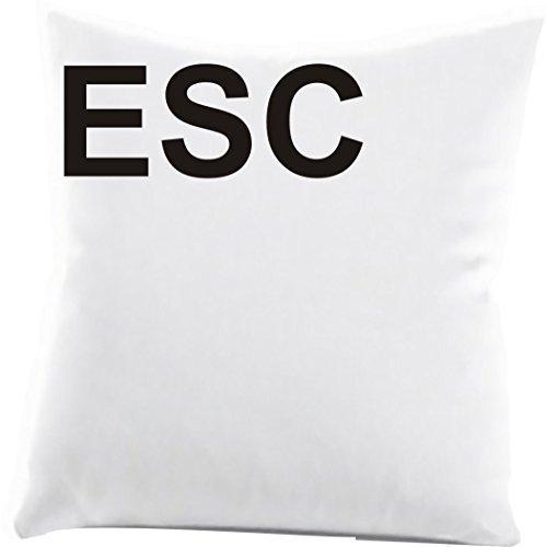 ShirtInStyle Zierkissenbezug ESC ideal für jeden Sofaabend, Farbe weiss
