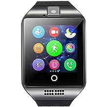Smart Watch, FOTOWELT 2016 Date Q18 SmartWatch avec Caméra Originale Fente TF / Carte SIM pour Android Samsung Galaxy / Note et iPhone iOs Upgrade Than U8L DZ09 - Noir