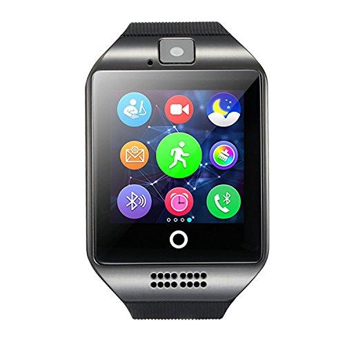 Smart Watch, FOTOWELT 2016 Neueste Q18 Smartwatch mit Kamera Original-TF / SIM-Karten-Slot für Android Samsung Galaxy / Note und iphone iOs-Upgrade als U8L DZ09 - Schwarz