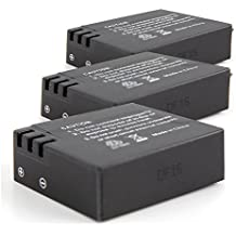 DURAGADGET ¡PAQUETE TRIPLE! 3 X Baterías Recargables Para QUMOX SJ4000 | SJ 5000 (WIFI) | Tonbux | Neewer + Gamuza - 3.7V 900mAh
