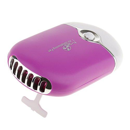 Elektrische Hand Trockner (MagiDeal Mini Handlicher USB Mini Lüfter Mehrzweck als Sommer Hand Ventilator (mit Handschlaufe) oder als Künstliche Wimpern Kleber Leim Trockner für Wimpernverlängerung Makeup - Lila)