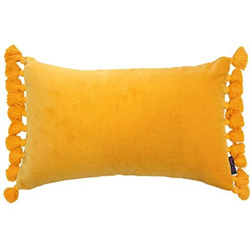 Ragged Rose Terry, Samt Kissen und innere Pad, Golden Gelb Gelb Gold Trim