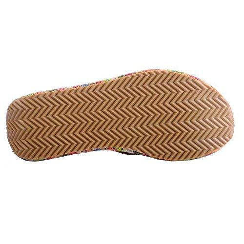 Femmes Chaussures Casual Plat Flip Flops Pantoufles Outdoor Plus couleurs disponibles apricot