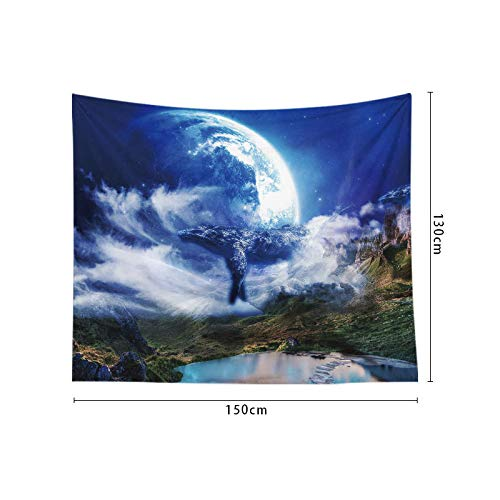 Kostüm Wal Aufblasbarer - jtxqe Wal Hintergrund Tuch Tapisserie Wanddekoration Schlafzimmer 22 130 * 150cm