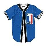 Raylans Camisa de béisbol de Manga Corta con Botones y Estampado Floral Digital 3D Casual para...