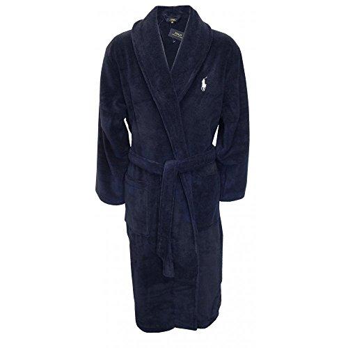 Polo Ralph Lauren Herren Robe Kimono, Blau (Cruise Navy 001), Large (Herstellergröße: L/XL) -