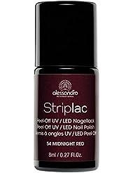 Alessandro International Striplac 1x Nr. 54 Midnight Red Peel-Off UV/LED Nagellack