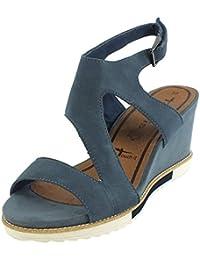 7320 Tamaris Leder Sandalette blau