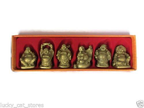 L y M tesoros en - Buda de oro (juego de 6) Oriental 5,08 cm, altura