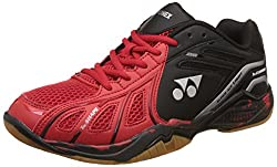 Yonex Super Ace Light Badminton Shoes, UK 8 (Light Red/Black)