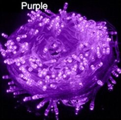 LED Lichterkette 10 Meter 8 Modi 100 LEDs verlängerbar Festbeleuchtung innen aussen Fensterdekoration 7 Watt violett lila