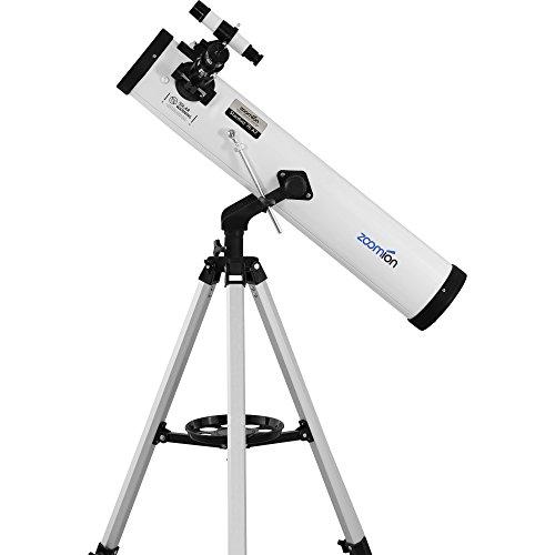 Zoomion Stardust 76 AZ, telescopio de Espejo con Apertura de 76 mm y 700 mm de Distancia Focal