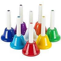 OriGlam 8 note diatonique, main métallique cloches mis en instrument de musique pour instruments à percussion enfant enfants jouet musical