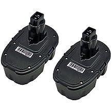 bouyi–2x Dewalt Ni-Cd batería de repuesto DC9096, DE9039, DE9095, DE9096, DE9098, DE9116, 18V, 2.0Ah