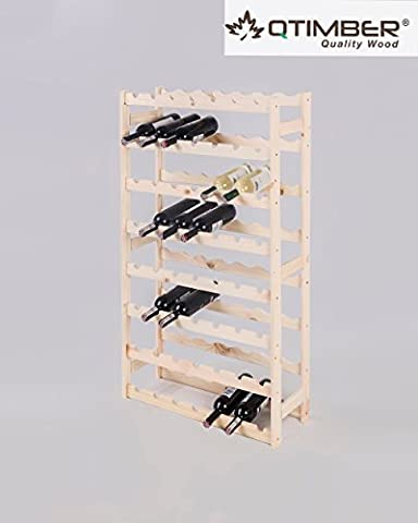qtimber 10002036 Wooden Wine Rack / Wine Bottle Shelving for