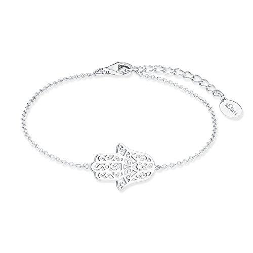 nd So Pure 16+3 cm Hamsa Hand der Fatima Anhänger 925 Silber rhodiniert (Hand Armband)