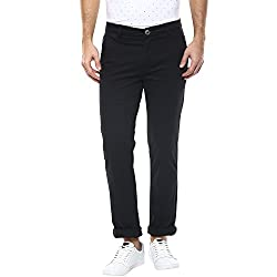 Spykar Mens Chino Casual Trousers (MTR-01AG-008_Black_34W x 33L)