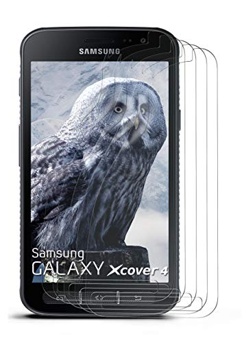 moex 5X Samsung Galaxy Xcover 4 | Schutzfolie Klar Display Schutz [Crystal-Clear] Screen Protector Bildschirm Handy-Folie Dünn Displayschutz-Folie für Samsung Galaxy Xcover 4 Displayfolie