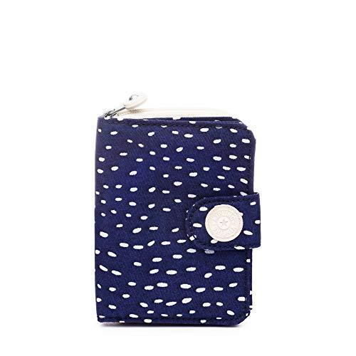 Kleine Snap Wallet (Kipling Unisex-Erwachsene New Money Snap Wallet Geldbörse, Surreal Dot Blue, Einheitsgröße)