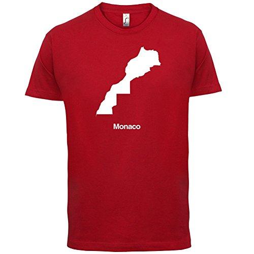 Monaco / Fürstentum Monaco Silhouette - Herren T-Shirt - 13 Farben Rot