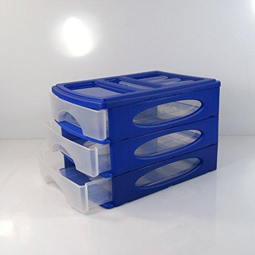 (983) SCHUBLADENBOX Blau A4 QUADRIX Aufbewahrungsbox Ordnungsbox