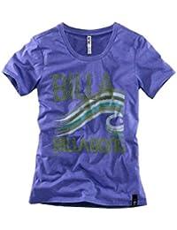 Billabong t-shirt pour femme t-shirt surf t-shirt marques shirt violet-taille xS (34/36)