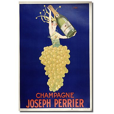 PitengTM Imprimé toile d'art de cru de Champagne - Joseph Perrier par Vintage Posters avec cadre étiré , 20