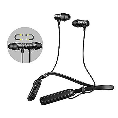 Écouteurs Bluetooth 4.1 Oreillette Bluetooth Sans Fil Sport - Sonoka Ecouteurs Intra auriculaire Casque Stéréo Microphone Intégré Compatible iPhone Samsung Android et autres Appareils Bluetooth(Noir) de Sonoka