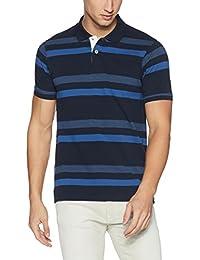 DJ&C Men's Striped Regular Fit T-Shirt