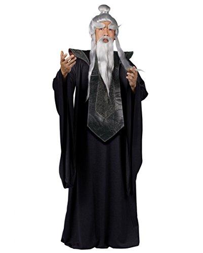 Kostüme Sensei Halloween (Sensei Master Kostüm mit Robe & Tunika als asiatischer Kampfkunst Lehrer Verkleidung One)