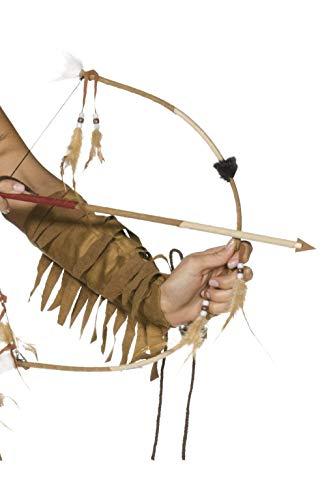 Smiffys Indianer Pfeil und Bogen Set, One Size, Braun, 31943